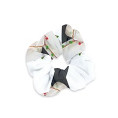 Indiahandycrfats Women Fashion White Dupatta With Multicolour Pompom All Four Sides For Girls/women Velvet Scrunchie by Indianhandycrafts