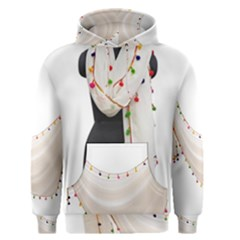 Indiahandycrfats Women Fashion White Dupatta With Multicolour Pompom All Four Sides For Girls/women Men s Pullover Hoodie by Indianhandycrafts