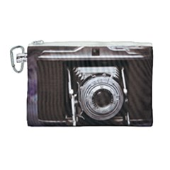 Vintage Camera Canvas Cosmetic Bag (large) by snowwhitegirl
