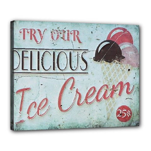 Delicious Ice Cream Canvas 20  X 16  (stretched) by snowwhitegirl