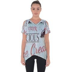 Delicious Ice Cream Cut Out Side Drop Tee by snowwhitegirl