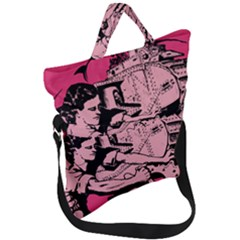 Working Woman Fold Over Handle Tote Bag