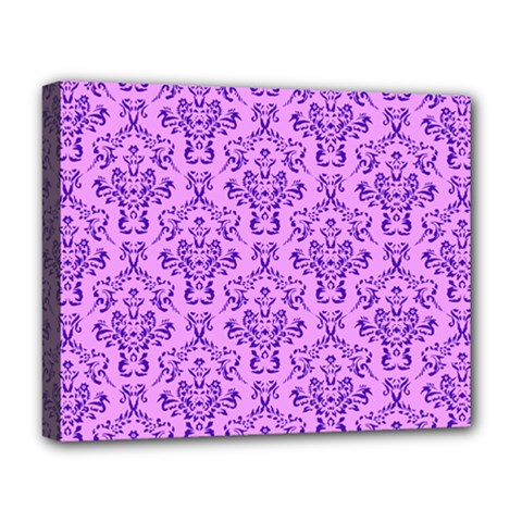 Victorian Violet Deluxe Canvas 20  X 16  (stretched) by snowwhitegirl