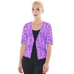 Victorian Violet Cropped Button Cardigan