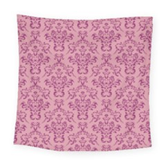 Victorian Pink Ornamental Square Tapestry (large) by snowwhitegirl