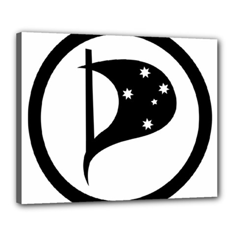 Logo Of Pirate Party Australia Canvas 20  X 16  (stretched) by abbeyz71