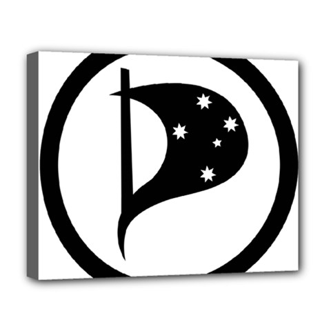 Logo Of Pirate Party Australia Deluxe Canvas 20  X 16  (stretched) by abbeyz71