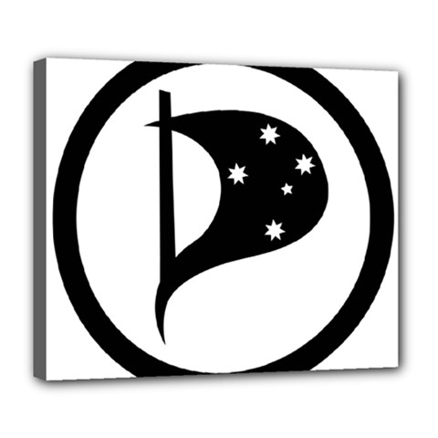 Logo Of Pirate Party Australia Deluxe Canvas 24  X 20  (stretched) by abbeyz71