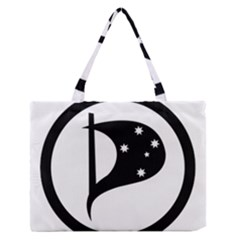 Logo Of Pirate Party Australia Zipper Medium Tote Bag by abbeyz71
