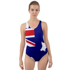 Flag Map Of Government Ensign Of Northern Ireland, 1929 1973 Cut Out Back One Piece Swimsuit