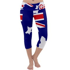 Flag Map Of Government Ensign Of Northern Ireland, 1929 1973 Capri Yoga Leggings