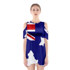 Flag Map Of Government Ensign Of Northern Ireland, 1929 1973 Shoulder Cutout One Piece Dress