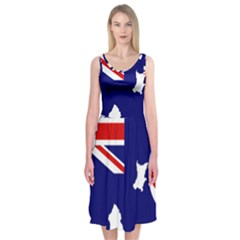 Flag Map Of Government Ensign Of Northern Ireland, 1929 1973 Midi Sleeveless Dress