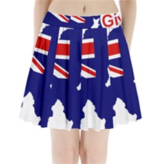 Flag Map Of Government Ensign Of Northern Ireland, 1929 1973 Pleated Mini Skirt