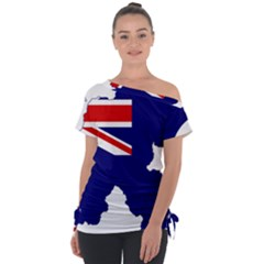 Flag Map Of Government Ensign Of Northern Ireland, 1929 1973 Tie Up Tee