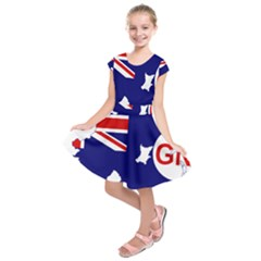 Flag Map Of Government Ensign Of Northern Ireland, 1929 1973 Kids  Short Sleeve Dress
