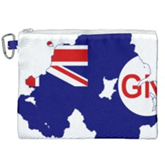 Flag Map Of Government Ensign Of Northern Ireland, 1929 1973 Canvas Cosmetic Bag (xxl) by abbeyz71