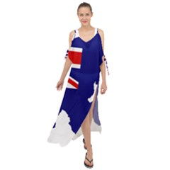 Flag Map Of Government Ensign Of Northern Ireland, 1929 1973 Maxi Chiffon Cover Up Dress
