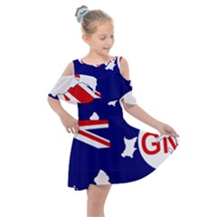Flag Map Of Government Ensign Of Northern Ireland, 1929 1973 Kids  Shoulder Cutout Chiffon Dress