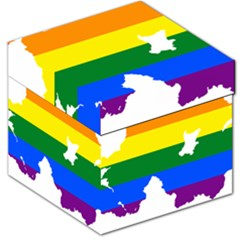 Lgbt Flag Map Of Northern Ireland Storage Stool 12