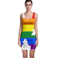 Lgbt Flag Map Of Northern Ireland Bodycon Dress