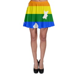 Lgbt Flag Map Of Northern Ireland Skater Skirt