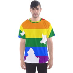 Lgbt Flag Map Of Northern Ireland Men s Sports Mesh Tee