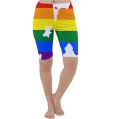 Lgbt Flag Map Of Northern Ireland Cropped Leggings