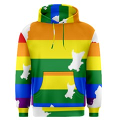 Lgbt Flag Map Of Northern Ireland Men s Pullover Hoodie