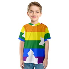 Lgbt Flag Map Of Northern Ireland Kids  Sport Mesh Tee