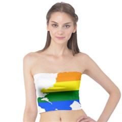 Lgbt Flag Map Of Northern Ireland Tube Top