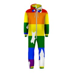 Lgbt Flag Map Of Northern Ireland Hooded Jumpsuit (kids)