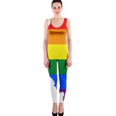 Lgbt Flag Map Of Northern Ireland One Piece Catsuit