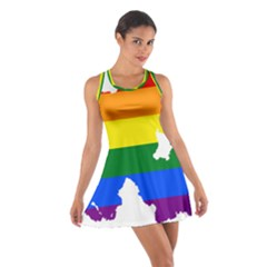 Lgbt Flag Map Of Northern Ireland Cotton Racerback Dress
