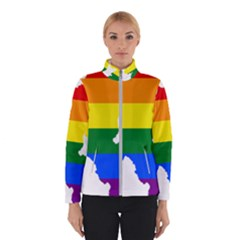Lgbt Flag Map Of Northern Ireland Winter Jacket