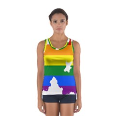 Lgbt Flag Map Of Northern Ireland Sport Tank Top