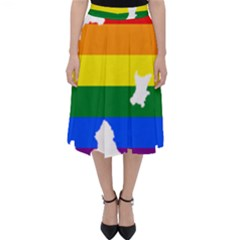 Lgbt Flag Map Of Northern Ireland Classic Midi Skirt