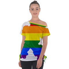 Lgbt Flag Map Of Northern Ireland Tie Up Tee
