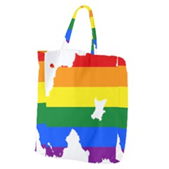 Lgbt Flag Map Of Northern Ireland Giant Grocery Tote