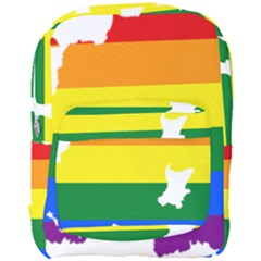 Lgbt Flag Map Of Northern Ireland Full Print Backpack