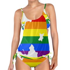 Lgbt Flag Map Of Northern Ireland Tankini Set
