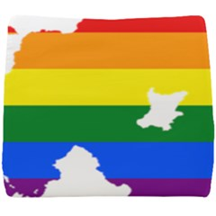Lgbt Flag Map Of Northern Ireland Seat Cushion