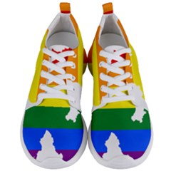 Lgbt Flag Map Of Northern Ireland Men s Lightweight Sports Shoes