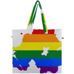 Lgbt Flag Map Of Northern Ireland Canvas Travel Bag