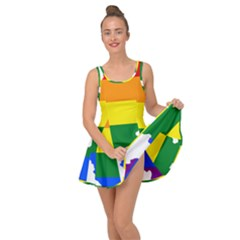 Lgbt Flag Map Of Northern Ireland Inside Out Casual Dress