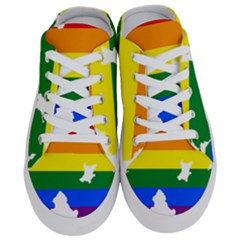 Lgbt Flag Map Of Northern Ireland Half Slippers