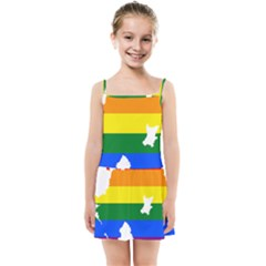 Lgbt Flag Map Of Northern Ireland Kids Summer Sun Dress