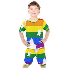 Lgbt Flag Map Of Northern Ireland Kid s Set