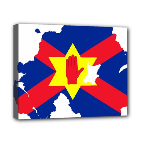 Ulster Nationalists Flag Map Of Northern Ireland Canvas 10  X 8  (stretched)