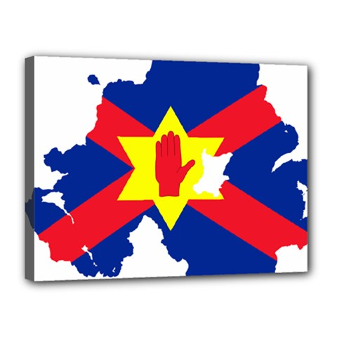 Ulster Nationalists Flag Map Of Northern Ireland Canvas 16  X 12  (stretched)